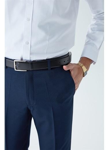 Modaplaza Erkek Slimfit Armürlü Kumaş Lacivert Pantolon Lacivert